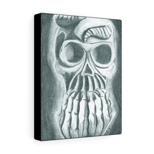 Skull in Hands 8″ × 10″ Canvas Print