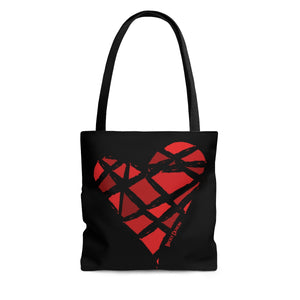 Red Heart Tote Bag (Various Sizes)