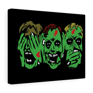 3 Zombies Canvas Print (Various Sizes)