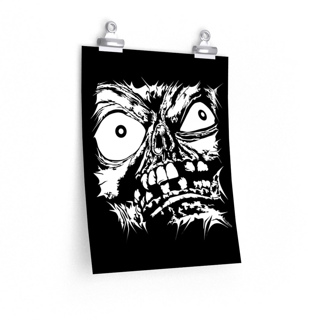 Stretched Monster Face Poster (Various Sizes)