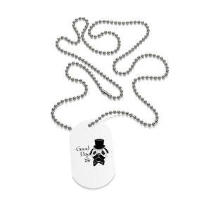 Good Day Pug Dog Tag Necklace
