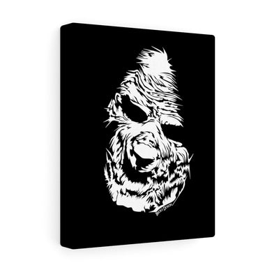 Zombie Face Canvas Print (Various Sizes)