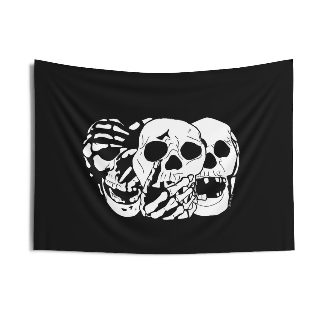 3 Skulls Wall Tapestry (Various Sizes)