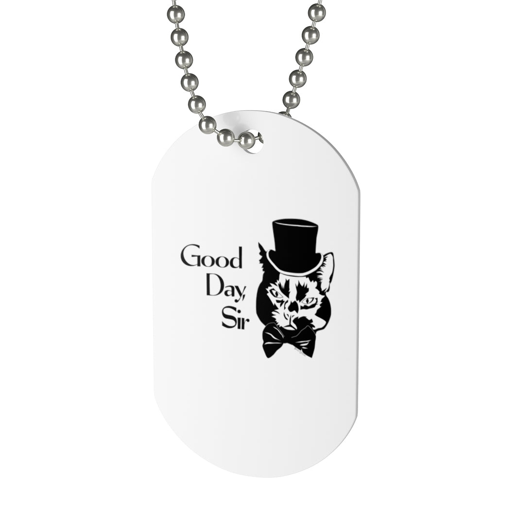 Good Day Cat Dog Tag Necklace