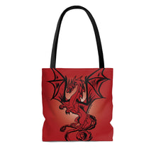 Load image into Gallery viewer, Red Dragon Tote Bag (Various Sizes)