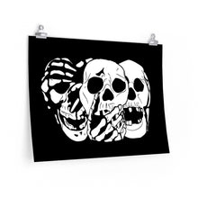 Load image into Gallery viewer, 3 Skulls Poster (Various Sizes)