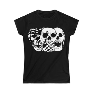 3 Skulls Black Women's Tee (S-2XL)