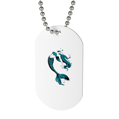 Mermaid Dog Tag Necklace