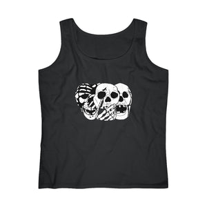 3 Skulls Black Women's Tank Top (S-2XL)