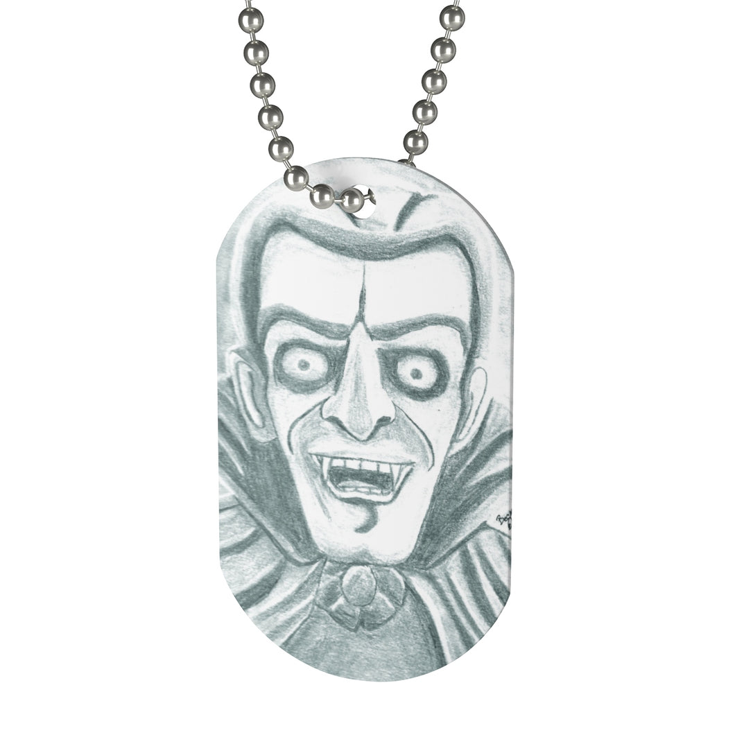 Vampire Dog Tag Necklace