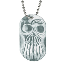 Load image into Gallery viewer, Skull in Hands Dog Tag Necklace