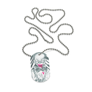Clown Doll Dog Tag Necklace