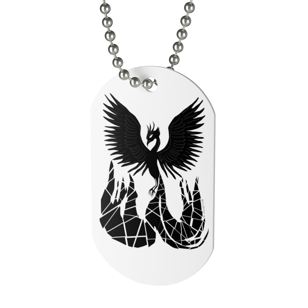 Phoenix Dog Tag Necklace