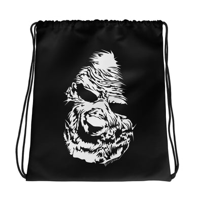 Zombie Face Drawstring Bag