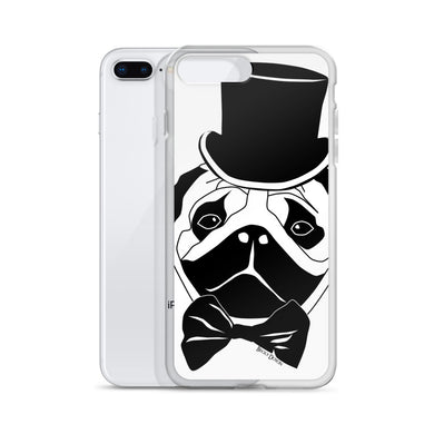 Fancy Pug iPhone Case (Various Options)