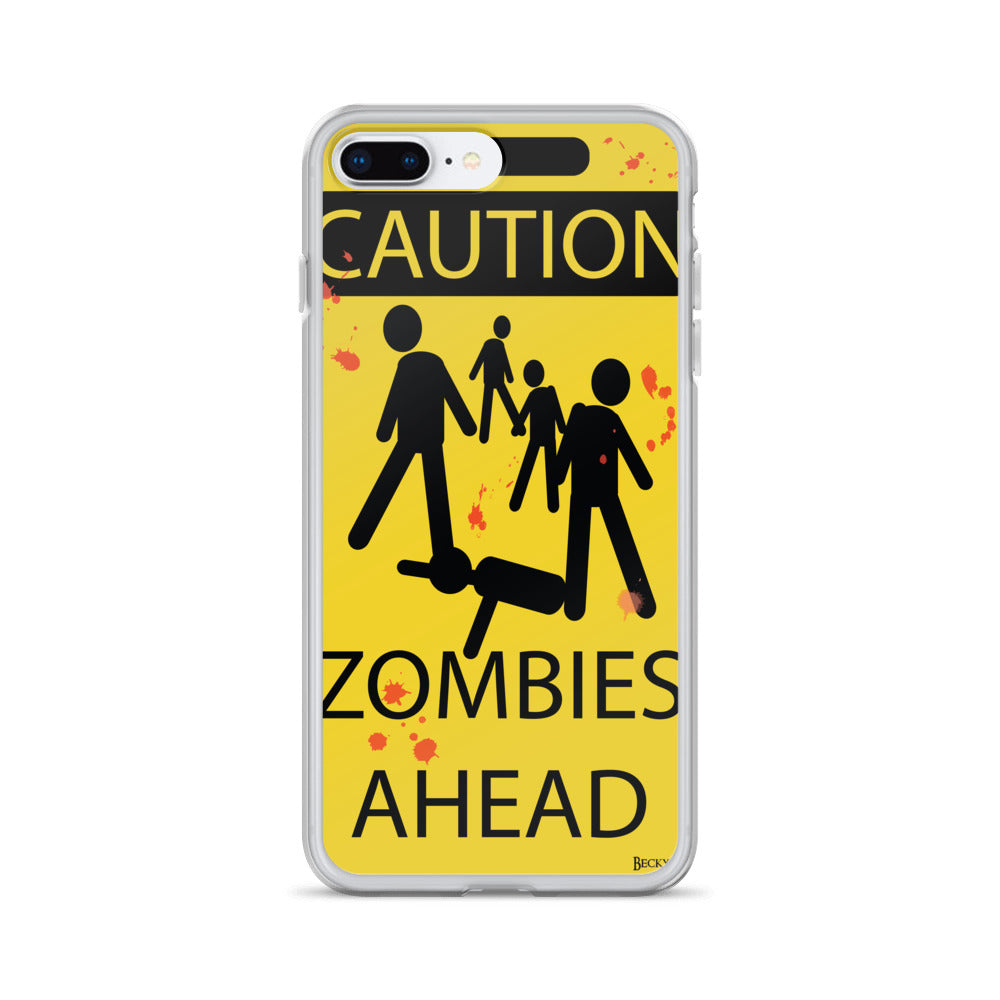 Caution! Zombies iPhone Case (Various Options)
