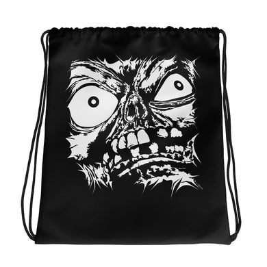 Stretched Monster Face Drawstring Bag