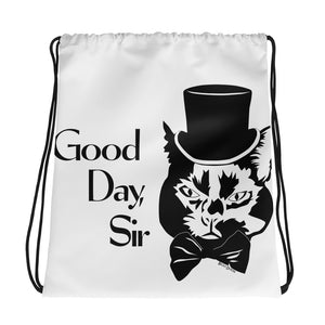 Good Day Cat Drawstring Bag