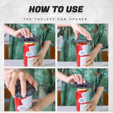 How To Use GoTopless Can Opener