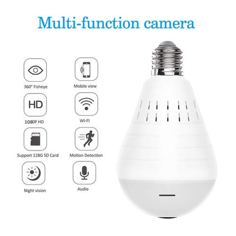 Multi-Function Security Camera Light Bulb