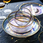 Handcrafted Iridescent Tableware