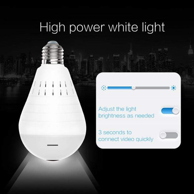 VIP - LED Wireless Panoramic (360) Home Security Light Bulb