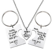 3pcs/Set Daddy's Girl Mama's World Pendant