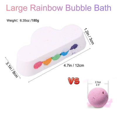Large Rainbow Cloud Bath Bomb
