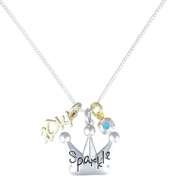 2014 Crown Charm Necklace