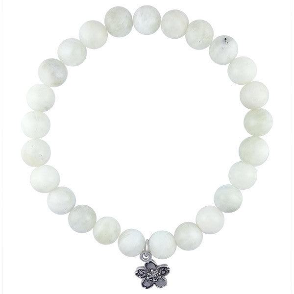 Moonstone Beaded Stackable Bracelet