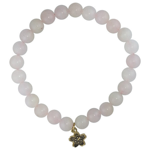 Rose Quartz Beaded Stackable Bracelet