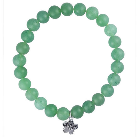 Green Aventurine Beaded Stackable Bracelet
