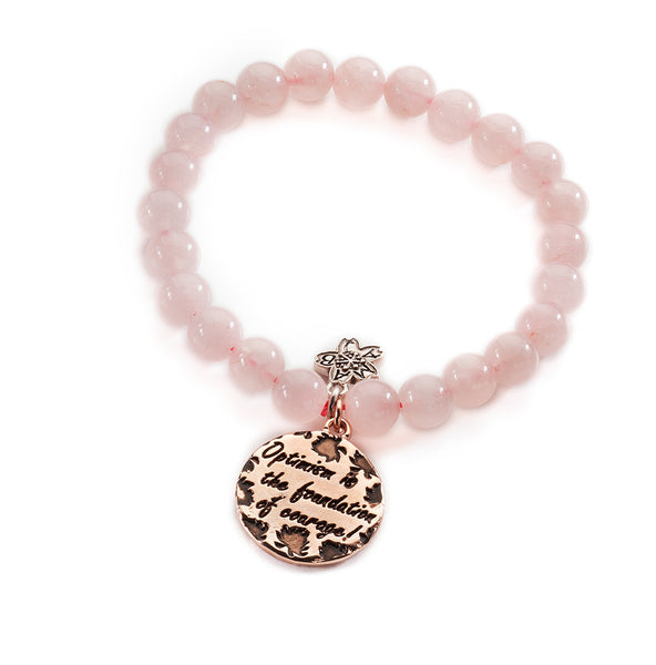 Rose Gold Courage Beaded Bracelet