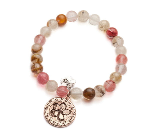 Rose Gold Hope Beaded Bracelet