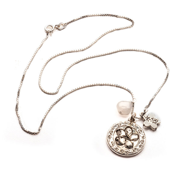 Hope & Fertility Flower Charm Pendant