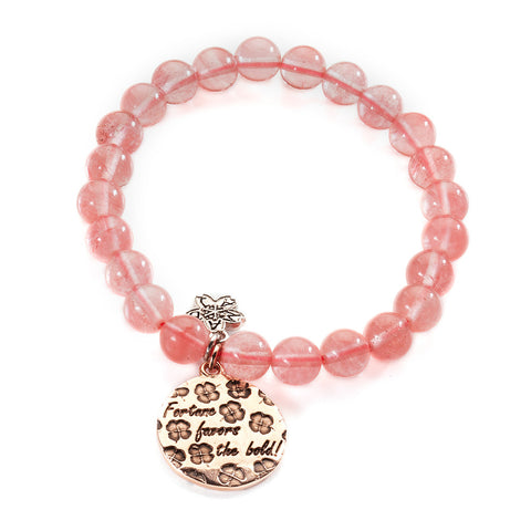 Rose Gold Luck Beaded Bracelet