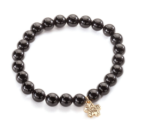 Onyx Beaded Stackable Bracelet