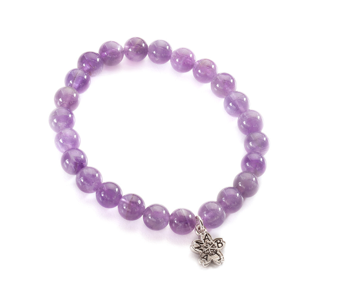 Amethyst Beaded Stackable Bracelet