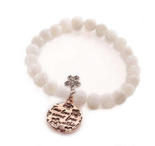 Rose Gold True Love Beaded Bracelet