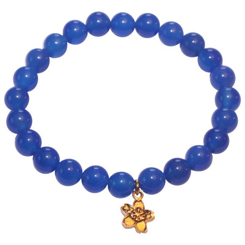 Cornflower Blue Jade Beaded Stackable Bracelet