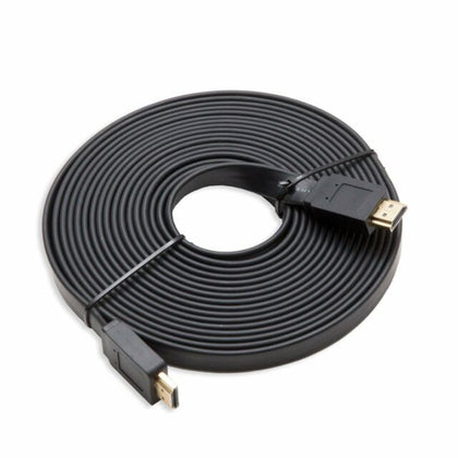 10M High Speed 1080p HDMI HD Flat Cable - Black