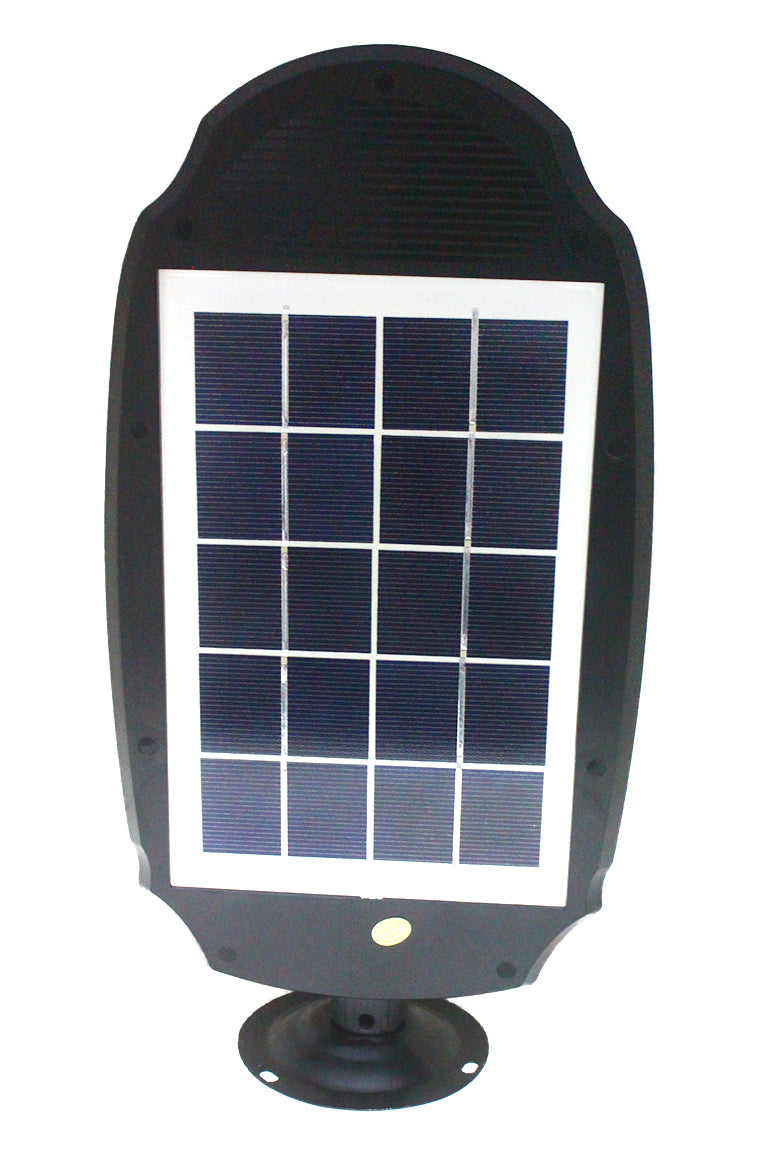 30W LED Solar Induction Street Light With Radar Motion Sensor - Black
