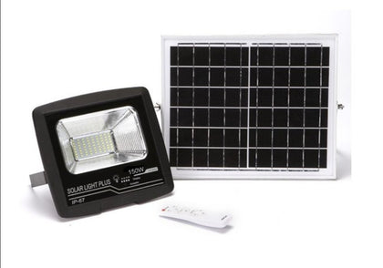 150W LED Solar Security Auto Swich(Day & Night) Flood Light - Black