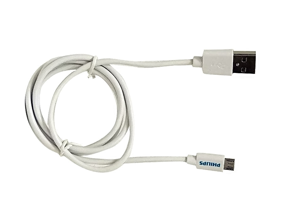 Philips 1.5M Micro USB Sync & Charge cable - White