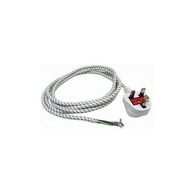 Replacement 2.5m Dry Iron Lead Cable - White
