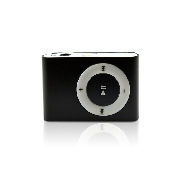 Portable Rechargeable Mini MP3 Player Clip USB FM Radio LCD Screen Support for 32GB Micro SD - Black
