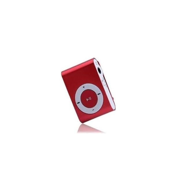 Portable Rechargeable Mini MP3 Player Clip USB FM Radio LCD Screen Support for 32GB Micro SD - Red