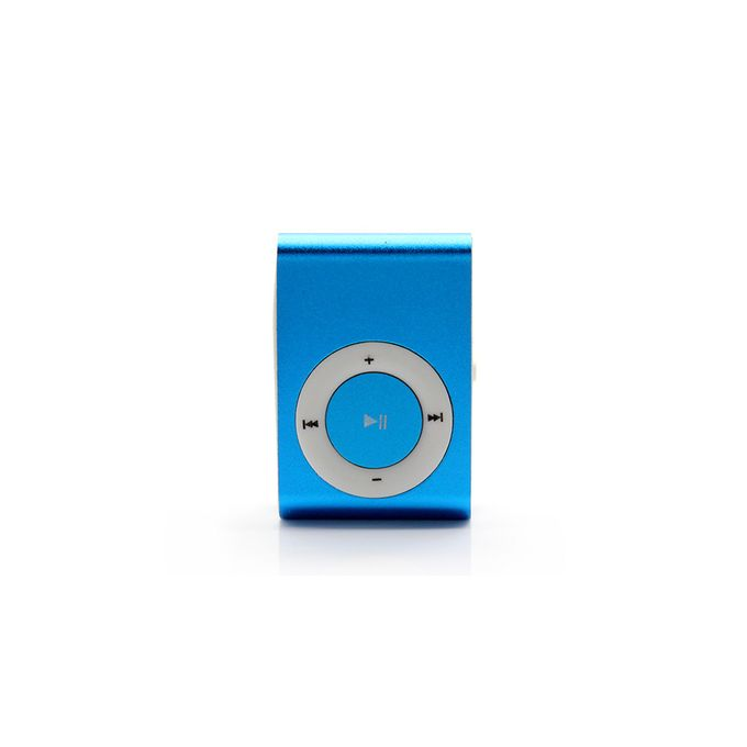 Portable Mini Rechargeable MP3 Player Clip USB FM Radio LCD Screen Support for 32GB Micro SD - Blue