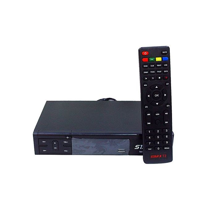 StarX T2 - DV3 T2 Full HD Upscalling 1080P Digital Reciever Decoder - Black