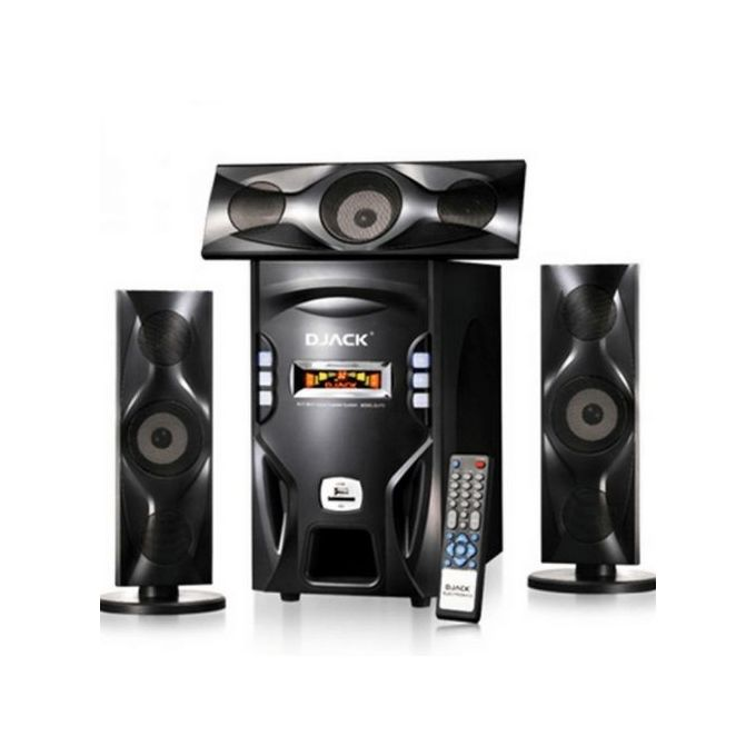 Djack DJ-F3L, AC&DC 3.1 X-Bass  Multimedia BT Home Theatre With FM Radio, USB & SD Ports - Black - Black